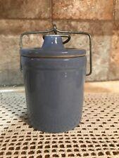 Purple Lilac Glazed Pottery Sour Dough Starter Jar with Metal Bail Lid