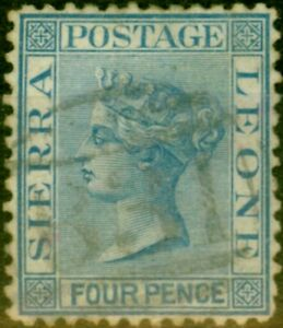 Sierra Leone 1873 4d Blue SG14 Good Used