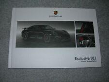 New Porsche Brochure The New 911 991 - Exclusive 911 Ultimate Personalisation