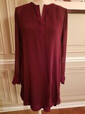 Authentic Vince silk double layer long sleeves Dress SIZE 4