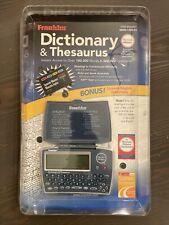 New Franklin Dictionary Thesaurus Organizer Tutor Mwd-1450 Sealed