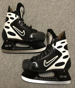 Nike air Zoom Black White Hockey Ice Skates Sz3.5 Or Use As Display