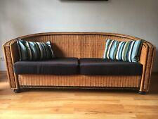 Sofa, Couch, Korb, rund, Polster, hellbraun, schwarz
