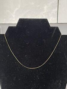 """Vintage 9ct 9k Gold 16"""" Long Curb Link Chain Necklace Ladies Men's"""