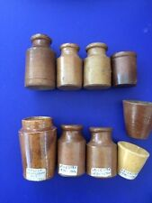 Vintage Small Stoneware Pots Matlock Leicester Others