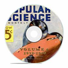Vintage Popular Science Magazine Volume 4 DVD 1932-1940 101 Issues V04
