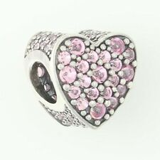 NEW Authentic Pandora Pink Dazzling Heart Charm - Sterling Silver 792069PCZ