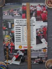 Ayrton Senna / Alain Prost Formula One Motor Racing Poster from Europe & Sticker
