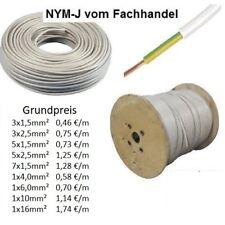 NYM-J - Kabel-Feuchtraumkabel-Installationskabel-Erdungs Kabel 3x1,5 - 7x1,5-NYM