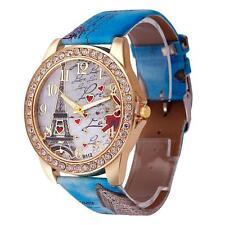 Sale Effiel Tower + Love Fashion Womens Watches Analog Quartz Vogue Wrist Watch