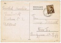 WWII: Theresienstadt Postcard to Wien 1943