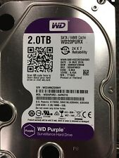 WD Purple WD20PURX 2TB Surveillance Hard Disk Drive 5400 RPM Class SATA 6Gb/s