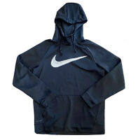 Nike Swoosh Dri Fit Hoodie Black Athletic Size Medium Mens Unisex Preowned