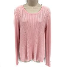 Roz&Ali Women's Scoop Neck Pullover Sweater Size XL Pink