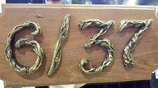 Vintage Brass Home NUMBER Address DIGIT 0 - 9 House Office Decor Hardware Door