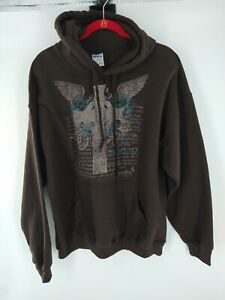 Women's Hoodie Size Large Brown (Embellished With Isaiah 41:10) 034