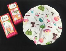 Diva Shower Cap Lulu Beauty Turban 2 Pack New Ruched Glamour Long Thick Hair