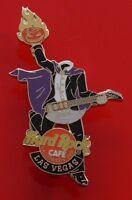 Hard Rock Cafe Enamel Pin Badge Las Vegas USA Halloween 2001 Headless Man Guitar