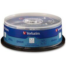 Verbatim m Disc DVD-R 4.7 GB 4 X 25-paquete de superficie marcada huso