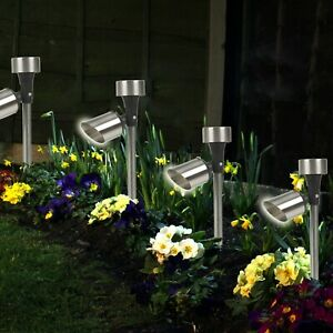 4 6 10 x Solar Powered LED Outdoor Garden Lights Outdoor Garden Lamps Stake Post