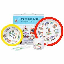NWT Children's Melamine Dinnerware Fun At The Fair  5 Pc Set Unisex
