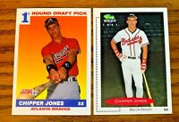 1991 CHIPPER JONES RC Score #671 and Classic #268 - Braves