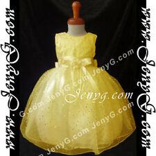 Vêtements soirées jaune sans manches pour fille de 2 à 16 ans