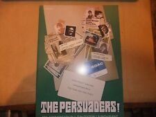 THE PERSUADERS 40th ANNIVERSARY BLU RAY LAUNCH BROCHURE ROGER MOORE TONY CURTIS