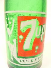 vintage ACL Soda POP  Bottle: Bubble-Girl 7-UP of GREENSBURG, PA - 7 oz ACL