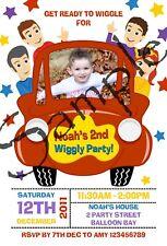 Personalised Wiggles Car Photo Invitations / Bluey Birthday Party Invites