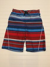NWT Boys ZeroXposur Swim Trunks Size Medium M 10 12  Patriotic Red White Blue