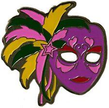 Authentic Mardi Gras Mask Purple Golf Ball Marker & Mardi Gras Hat Clip