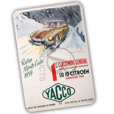 Rallye Monte Carlo 1959 Yacco Reproduction 8x12 Aluminum Sign