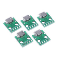 5Pcs Micro Usb To Dip Adapter 5Pin Female Connector B Type Pcb Converter XR