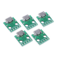 5pcs MICRO USB to DIP Adapter 5pin female connector B type pcb converter triBB