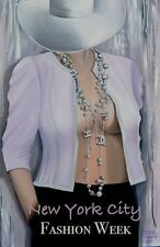 """Chanel Card Hat Art Poster Card Fashion Couture Illustration Nude 5""""X7"""""""