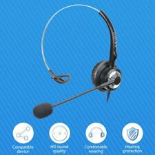 Wired 3.5mm Headphones Calling Center Headset Anti-noise Mic For PC Laptop Skype
