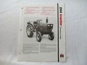 IH International Harvester 244 tractor specification sheet brochure