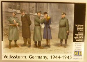 MasterBox 1/35 German Soldiers Training Civilians Figures Volkssturm Model Kit