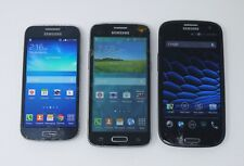 Lot of 3 Working Cracked Samsung Smartphones - S4 Mini / S3 / Galaxy Avant