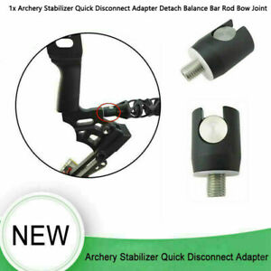 Archery Stabilizer Quick Disconnect Adapter Detach Balance Bar Rod Bow Joint EE
