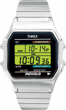 Timex T78582, Men's Digital X-Long Silvertone Expansion Band Watch, Indiglo