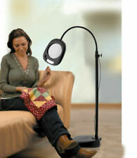 Magnifying LED Floor Lamp Reading Light 2x Magnifier Lens Read Flexible Neck S