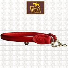Premium Lederwürger mit Kette Rundgenäht WOZA Soft Rindnappa Lederhalsband WGK3