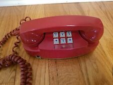 Vintage  Red  Western Electric  Bell System  Princess  Phone