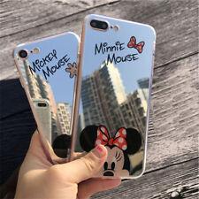 Espejo De Mickey Minnie Mouse Lindo Teléfono Estuche Cubierta para iPhone 8 7 11Pro MAX Plus X