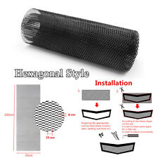 40''x13'' Black Hexagonal Style Aluminum Car Auto Grille Net Mesh Grill Section
