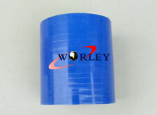 "Silicone Hose Straight turbo pipe Joiner Tube 2.5"" inch 64 mm x 76 mm Long Blue"