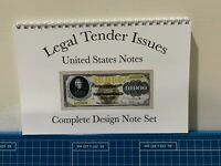 """Book Complete  Legal Tender Type Notes (UnitedStates Notes)5-1/2""""X11"""" Wire Bound"""