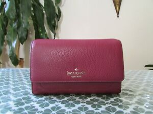 NWT Kate Spade Pebble Leather Harlow Wallet On a String